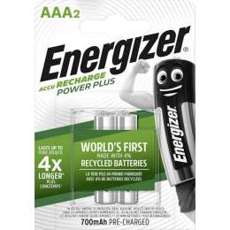 2 Piles Rechargeables AAA / HR03 700mAh Energizer Power Plus