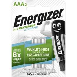 2 Piles Rechargeables AAA / HR03 800mAh Energizer Extreme