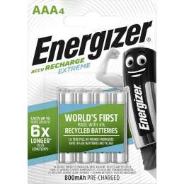 4 Piles Rechargeables AAA / HR03 800mAh Energizer Extreme