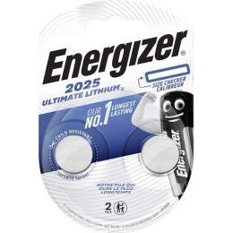 2 Piles CR2025 Energizer Bouton Ultimate Lithium 3V