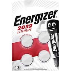 4 Piles CR2032 Energizer Bouton Lithium 3V