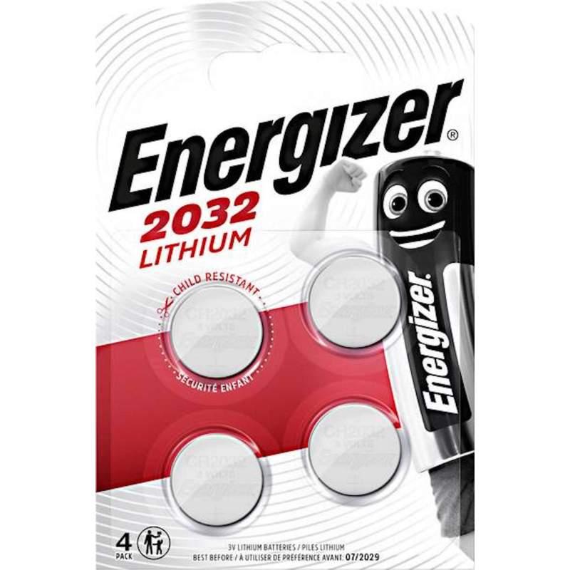 Energizer Lithium 3V CR2032 par 4
