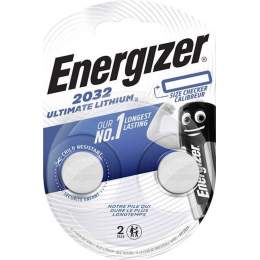 2 Piles CR2032 Energizer Bouton Ultimate Lithium 3V