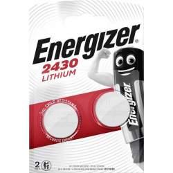 2 Piles CR2430 Energizer Bouton Lithium 3V