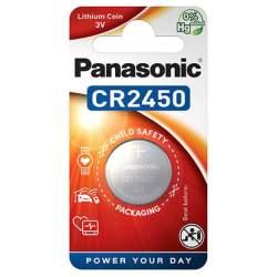Pile CR2450 Panasonic Bouton Lithium 3V