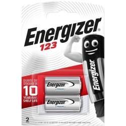 2 Piles 123 Energizer Lithium 3V