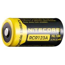 Pile Rechargeable RCR123A 16340 NiteCore NL166 3,7V 650mAh