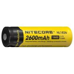 Pile Rechargeable 18650 NiteCore NL1826 3,7V 2600mAh