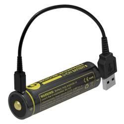 Pile Rechargeable via USB 18650 NiteCore NL1835R 3,6V 3500mAh (Cable non fourni)
