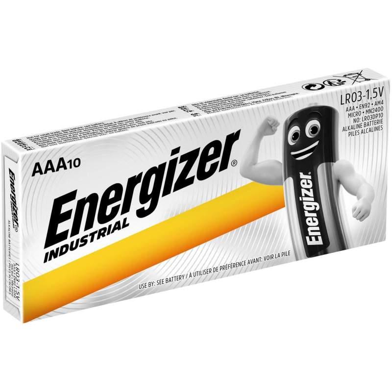 10 Piles AAA / LR03 Energizer Industrial
