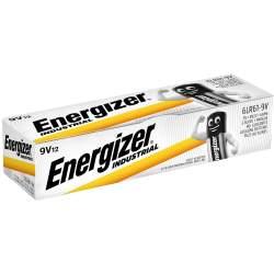 12 Piles 9V / 6LR61 Energizer Industrial