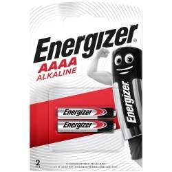 2 Piles AAAA / LR8D425 / LR61 / E96 Energizer Alcaline 1,5V