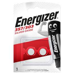 2 Piles 357 / 303 / SR44 / EPX76 Energizer