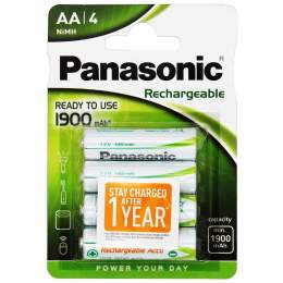4 Piles Rechargeables AA / HR6 1900mAh Panasonic
