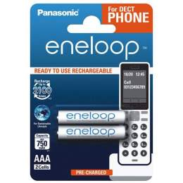 2 Piles Rechargeables AAA / HR03 750mAh Panasonic Eneloop for DECT BK-4MCCE