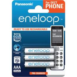 3 Piles Rechargeables AAA / HR03 750mAh Panasonic Eneloop for DECT BK-4MCCE