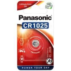 Pile CR1025 Panasonic Bouton Lithium 3V