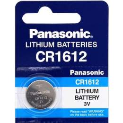 Pile CR1612 Panasonic Bouton Lithium 3V