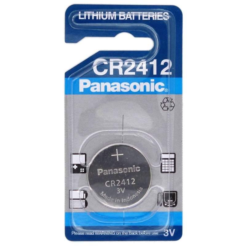 Pile CR2412 Panasonic Bouton Lithium 3V