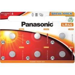 6 Piles LR44 / V13GA / A76 Panasonic Alcaline 1,5V