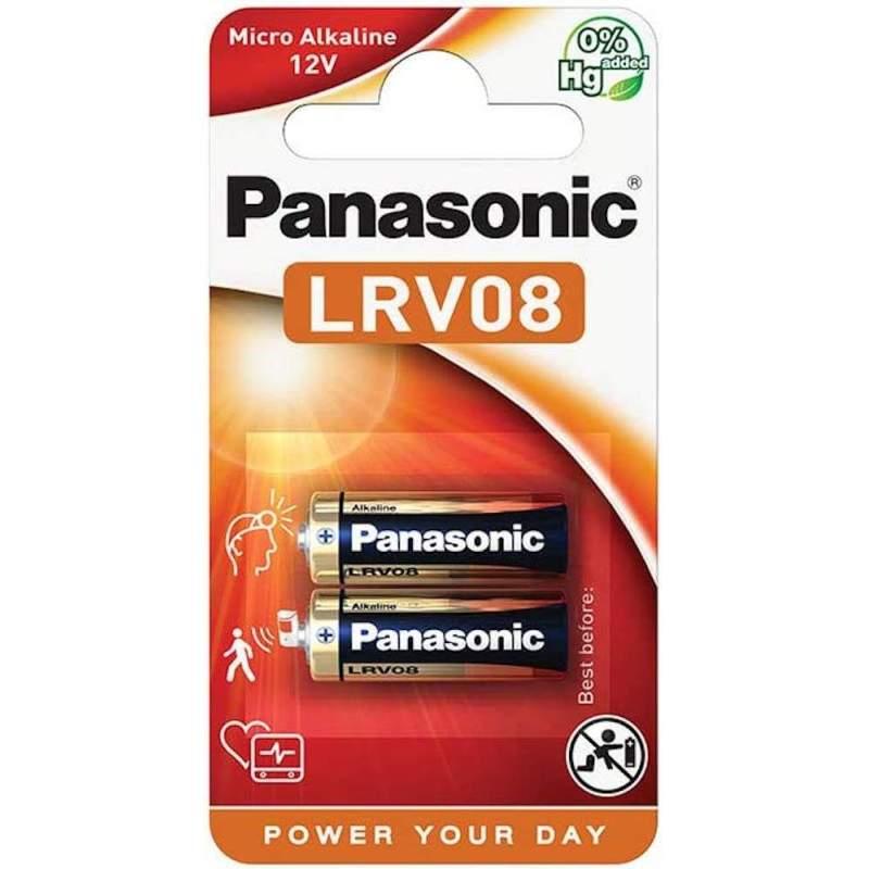 2 Piles LRV08 / GP23 / MN21 / L1028 / V23GA Panasonic Alcaline 12V
