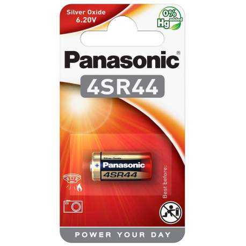 Pile 4SR44 Panasonic Oxyde d'Argent 6,2V
