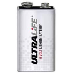 Pile Lithium 9V / 6LR61 ULTRALIFE 1200mAh