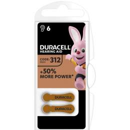 Duracell Auditive Easy Tab 312 / PR41 par 6
