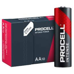 10 Piles Alcalines AA / LR6 Duracell Procell Intense