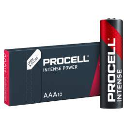 10 Piles Alcalines AAA / LR03 Duracell Procell Intense