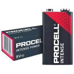 10 Piles Alcalines 9V / 6LR61 Duracell Procell Intense
