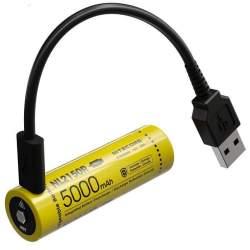 Pile Rechargeable via USB 21700 NiteCore NL2150R 3,6V 5000mAh (Cable non fourni)