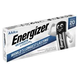 10 Piles Lithium AAA / LR03 Energizer Ultimate Lithium