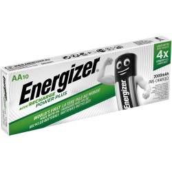 10 Piles Rechargeables AA / HR6 2000mAh Energizer Power Plus