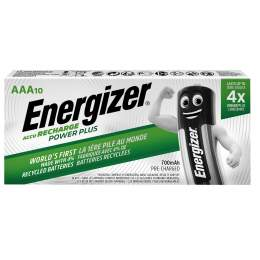 10 Piles Rechargeables AAA / HR03 700mAh Energizer Power Plus