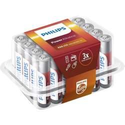 24 Piles Alcalines AAA / LR03 Philips Power Alkaline