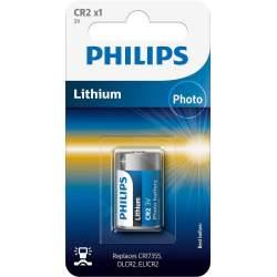 Pile CR2 Philips Lithium 3V