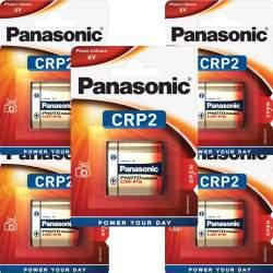 5 Piles CRP2 / 223 Panasonic Lithium 6V