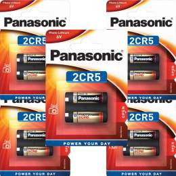 5 Piles 2CR5 / 245 Panasonic Lithium 6V