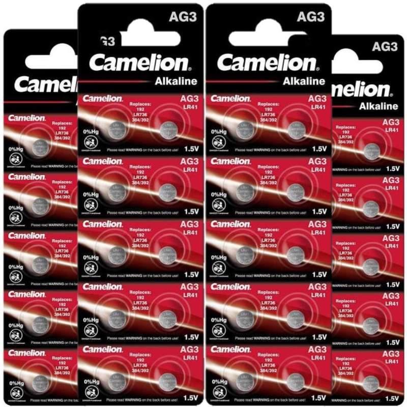 40 Piles LR41 / AG3 / 392 / 192 Camelion Alcaline 1,5V
