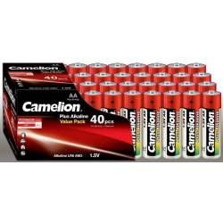 40 Piles Alcalines AA / LR6 Camelion Alcaline Plus