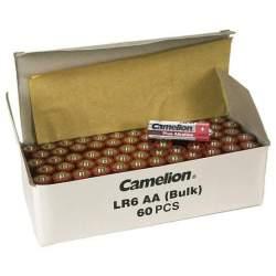 60 Piles Alcalines AA / LR6 Camelion Alcaline Plus