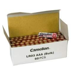 60 Piles Alcalines AAA / LR03 Camelion Alcaline Plus