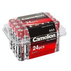 24 Piles Alcalines AAA / LR03 Camelion Alcaline Plus