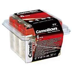 6 Piles Alcalines 9V / 6LR61 Camelion Plus Alcaline