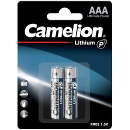 2 Piles Lithium AAA / FR03 Camelion Lithium 1.5V